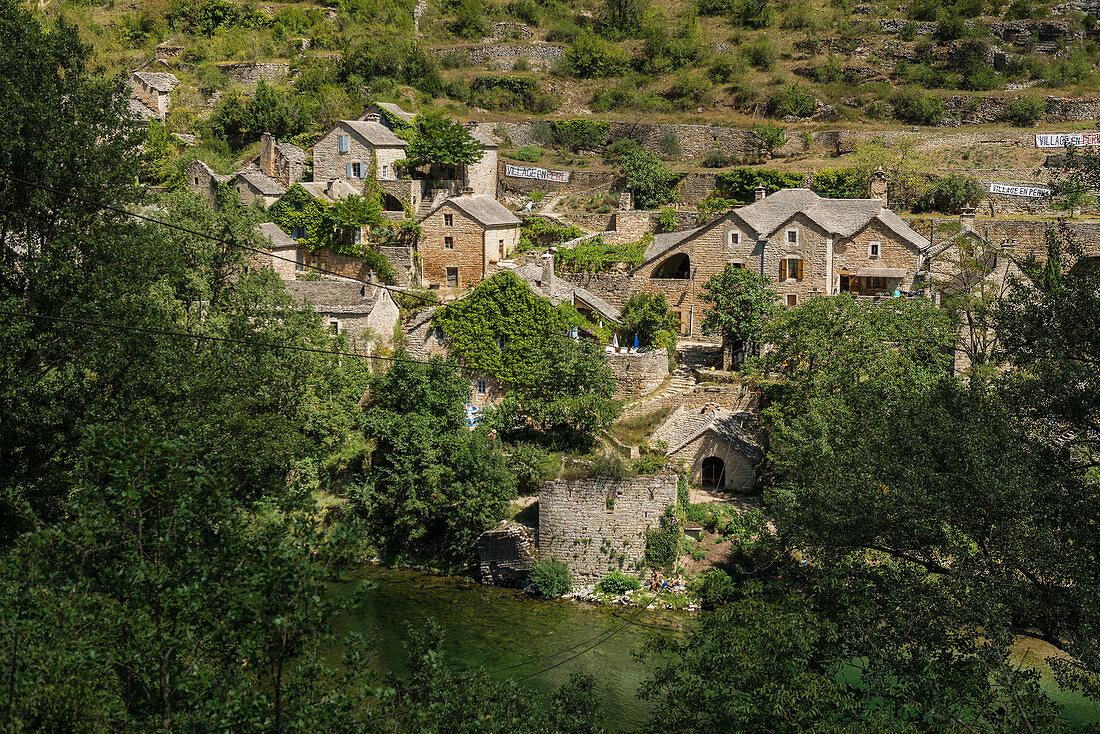 La Malene, Gorges du Tarn, Parc National des Cevennes, Cevennes National Park, Lozère, Languedoc-Roussillon, Occitania, France