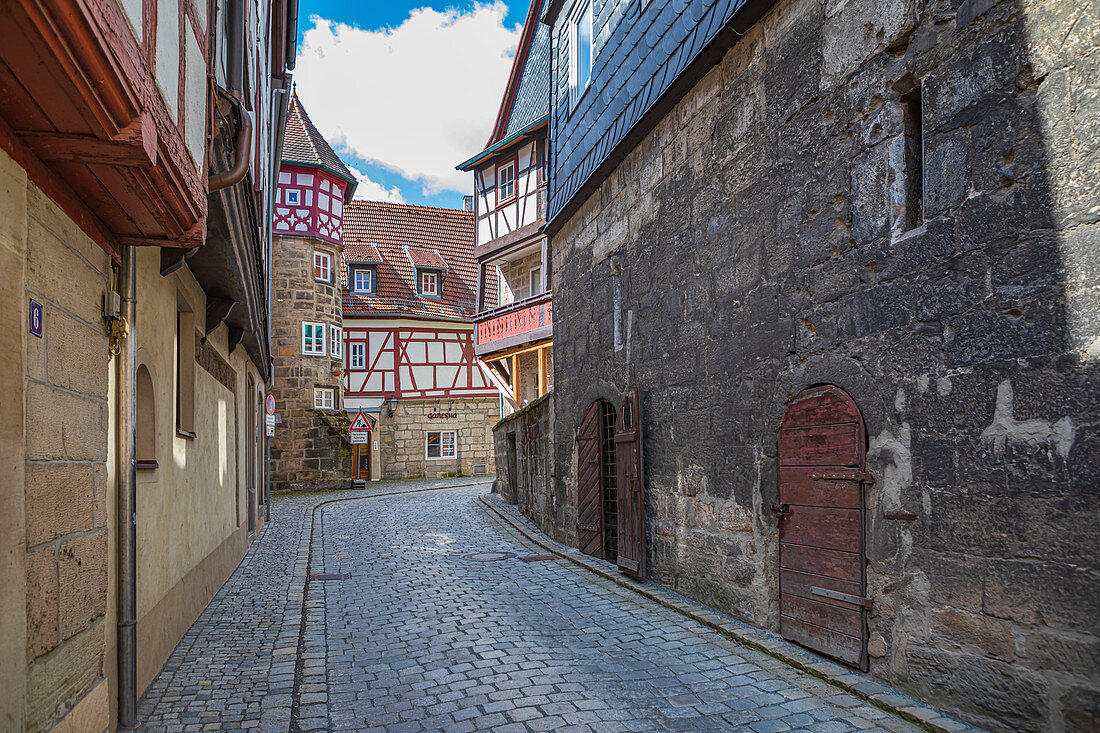 Strauer Torweg in Kronach, Bayern, Deutschland