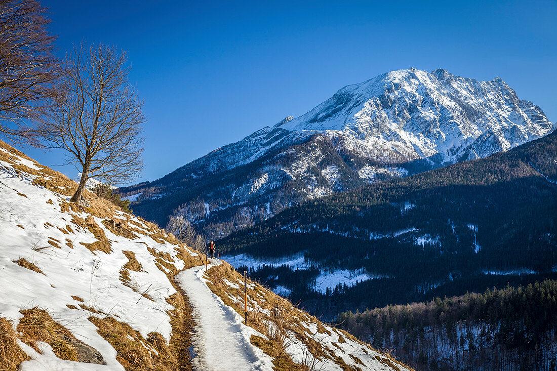 Brine pipeline route above Ramsau, Upper Bavaria, Bavaria, Germany