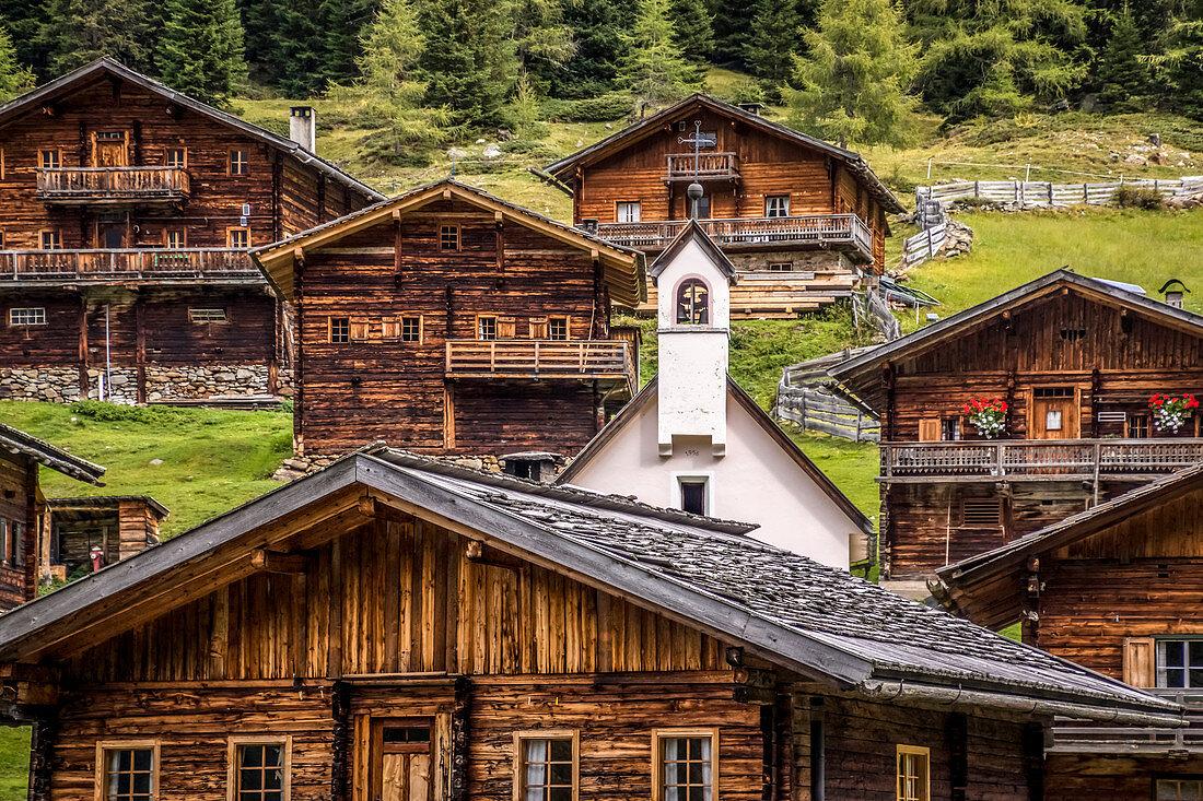 Oberstalleralm im Arntal, Innervillgraten, Villgratental, Osttirol, Tirol, Österreich