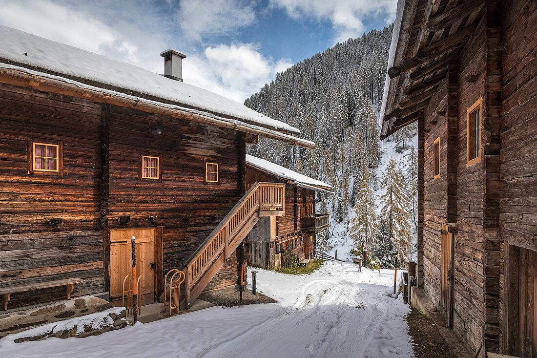 Alfenalm (1.720 m) im Alfental oberhalb Kalkstein, Innervillgraten, Villgratental, Osttirol, Tirol, Österreich