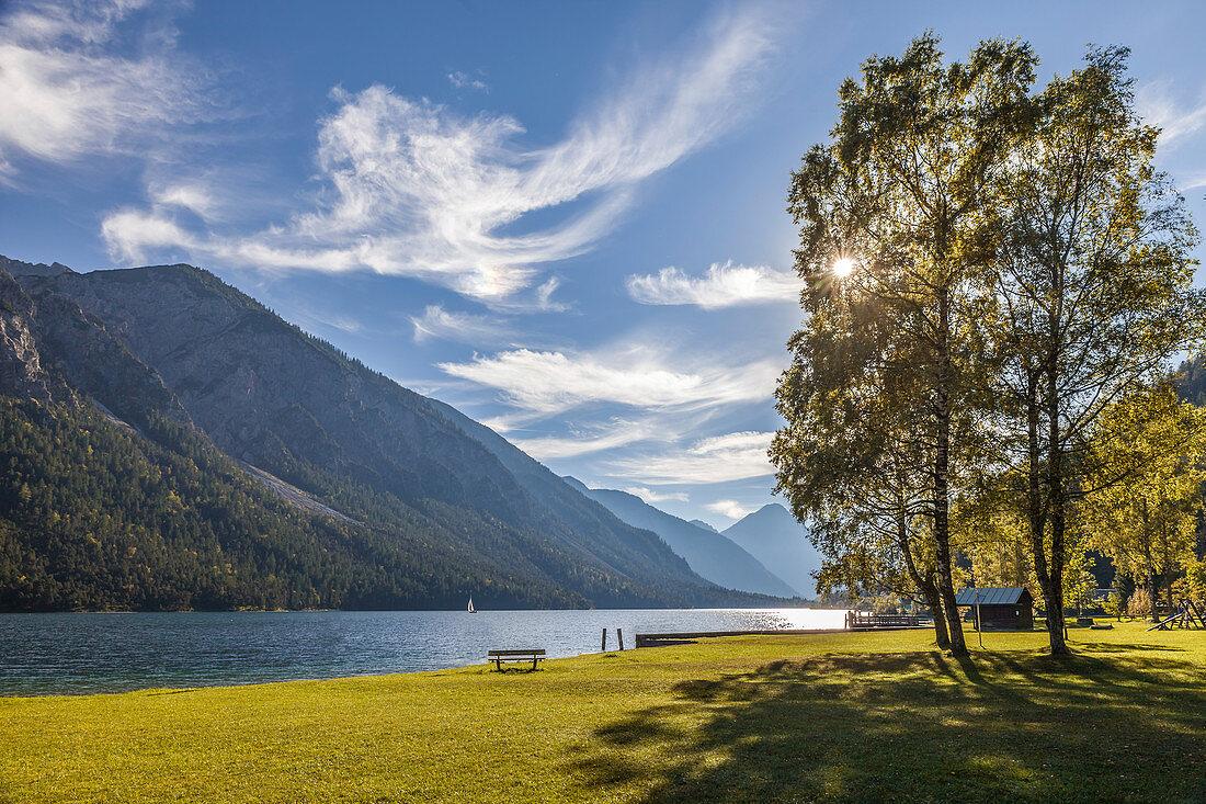 Plansee in the Ammergau Alps, Reutte, Tirol, Tirol, Austria