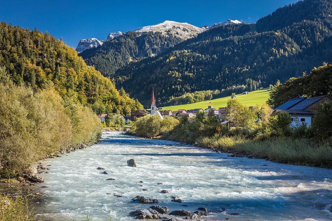 Bregenzerache near Au, Bregenzerwald, Vorarlberg, Austria