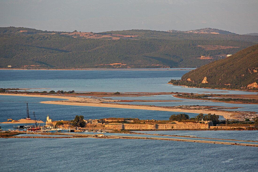 Fortress Santa Maura in front of the main town Lefkada, Lefkada Island, Ionian Islands, Greece
