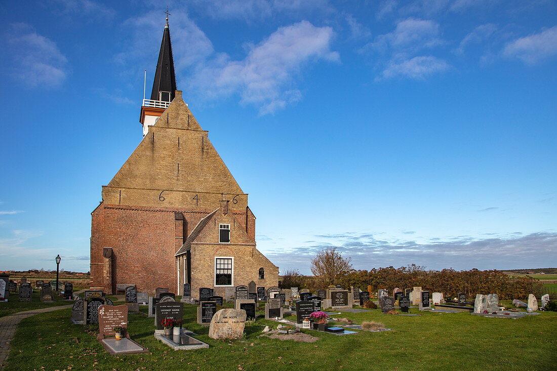 Kerk Den Hoorn Church and Cemetery, Den Hoorn, Texel, West Frisian Islands, Friesland, Netherlands, Europe