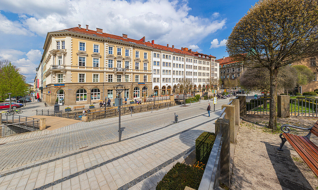 Opernstrasse and Grand Canal in Bayreuth, Bavaria, Germany