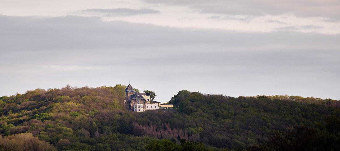 View over the Rhine to Gut Hohenunkel, Unkel, Rhineland-Palatinate, Germany