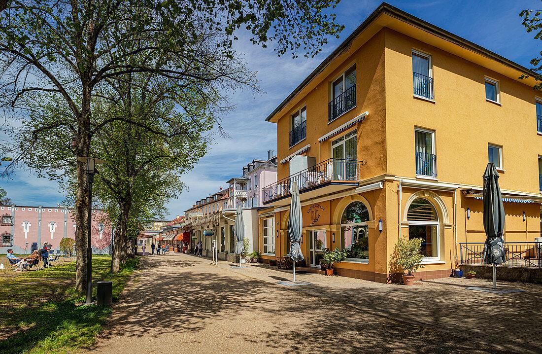 Lindesmühlpromenade in Bad Kissingen, Bavaria, Germany