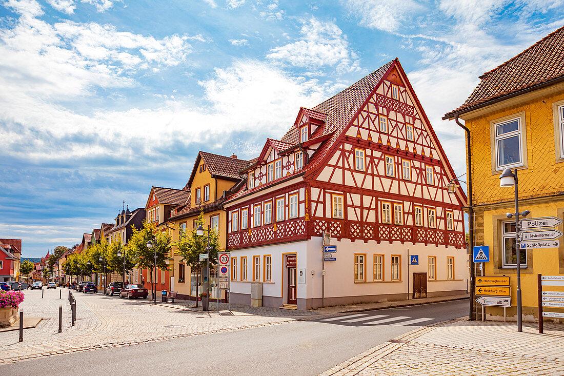 Market in Bad Rodach, Bavaria, Germany