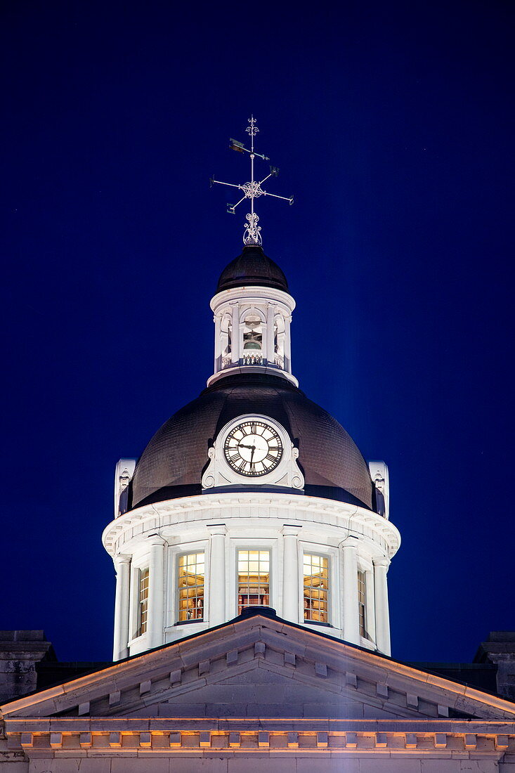 Dome of the Kingston Capitol Building at dusk, Kingston, Ontario, Canada, North America