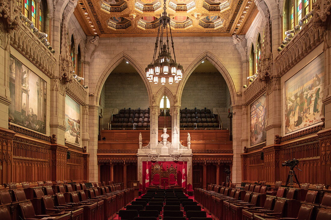 Interior view from Parliament House, Ottawa, Ontario, Canada, North America