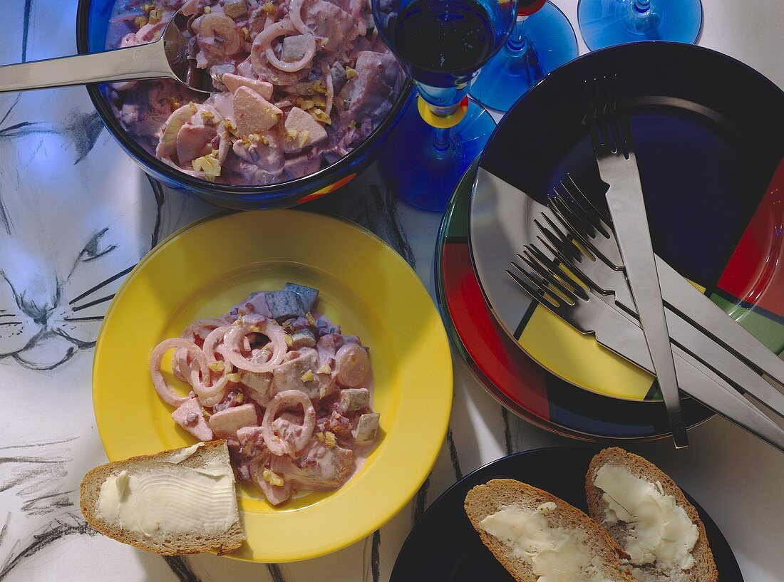 Breakfast to fight a Hangover; with Herring Salad
