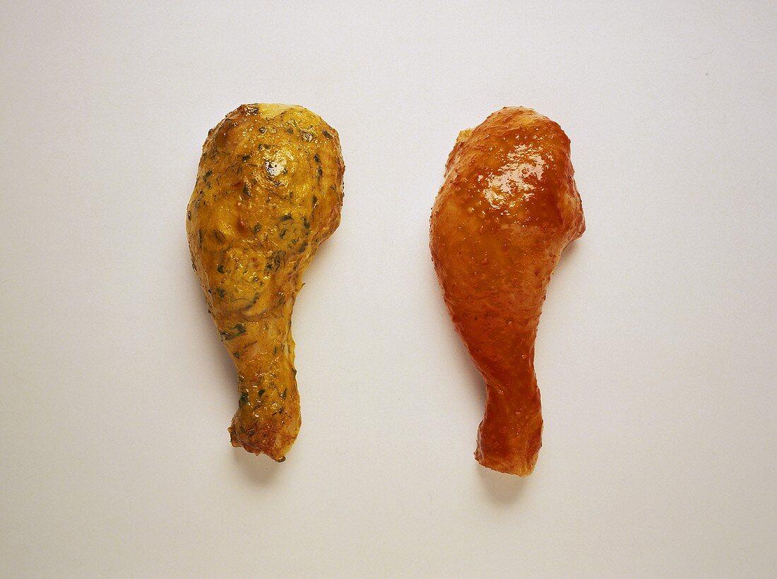 Chicken Legs with Chili Sauce & Mustard Sauce