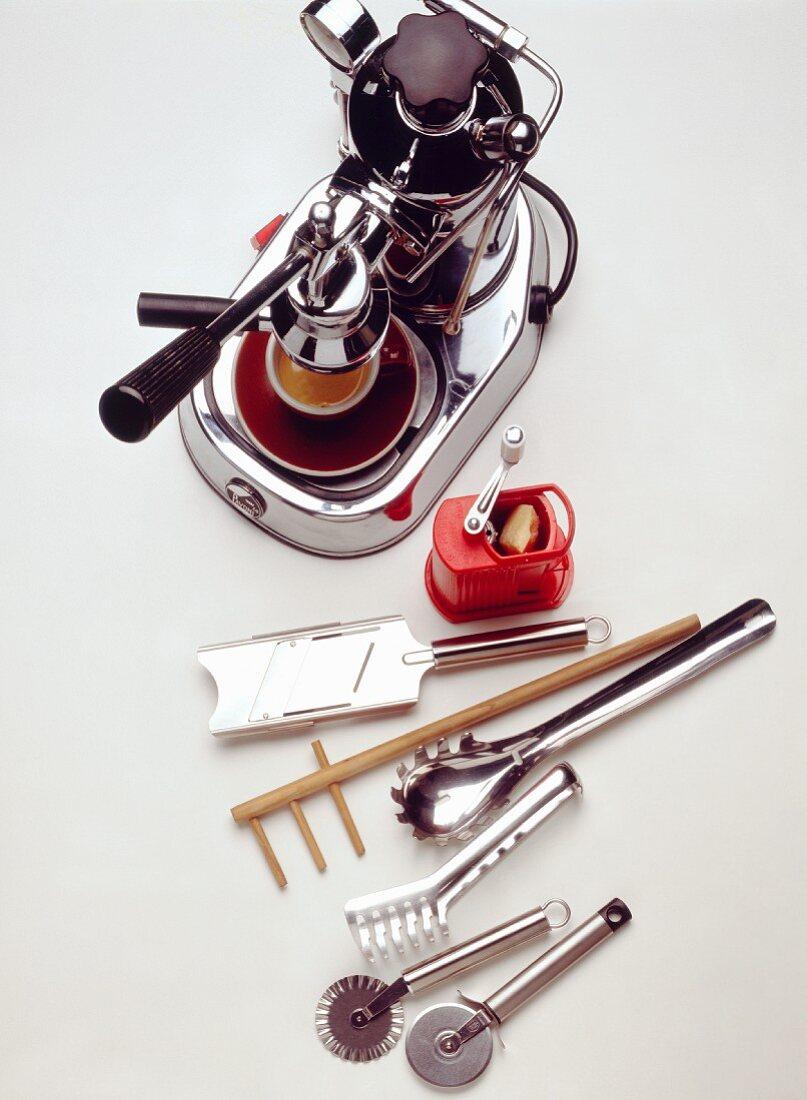 Assorted Italian Kitchen Utensils