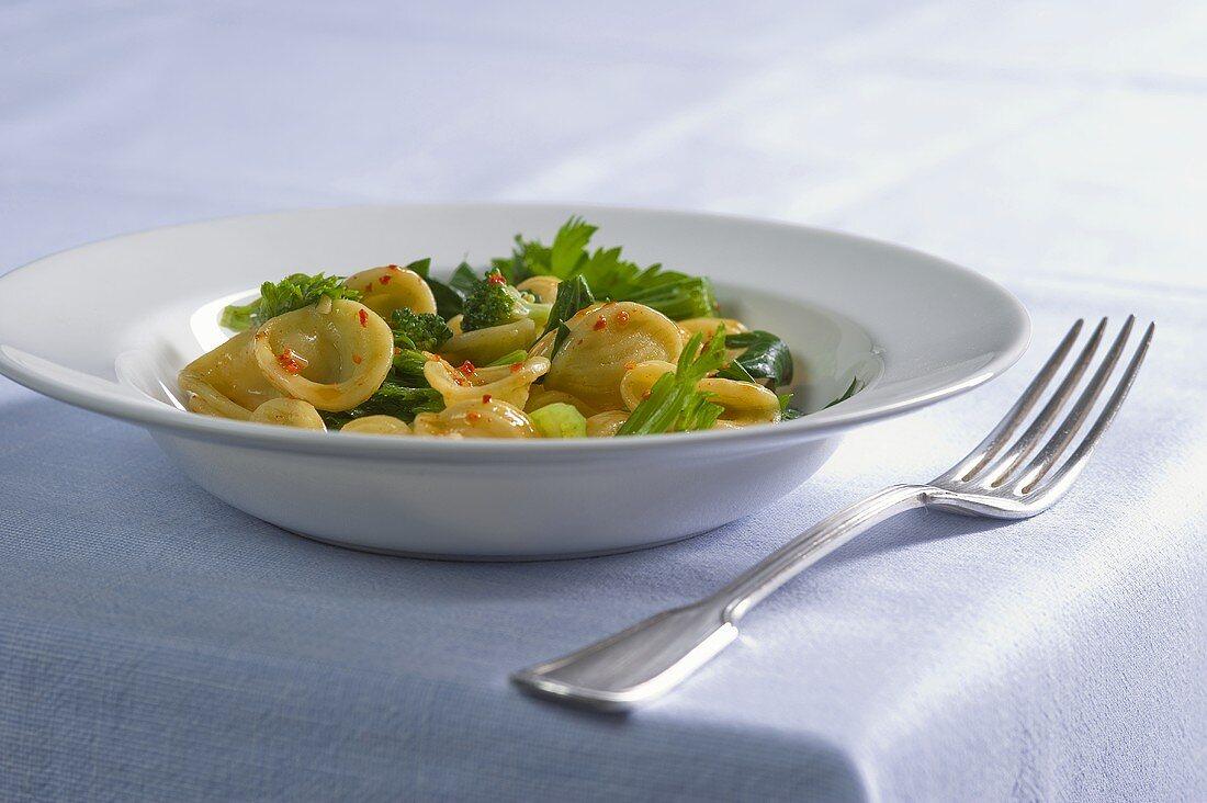 Orecchiette pasta with broccoli rabe