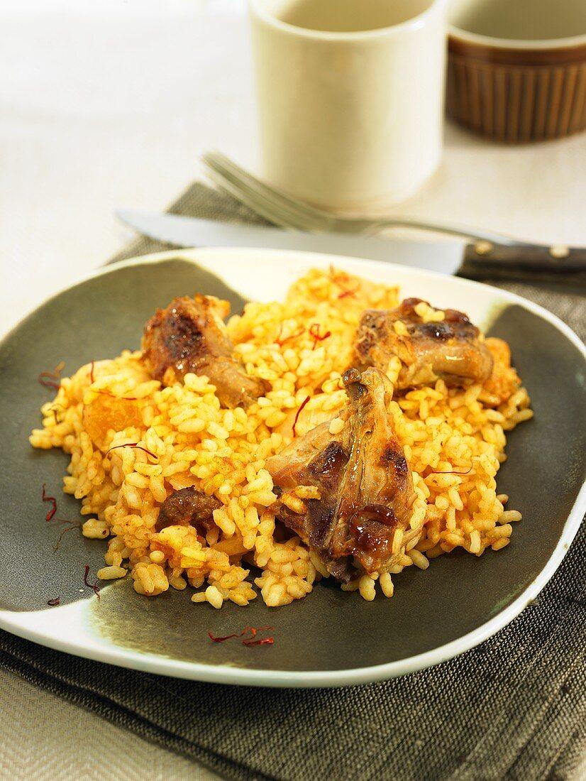 Saffron rice with partridge (Spain)