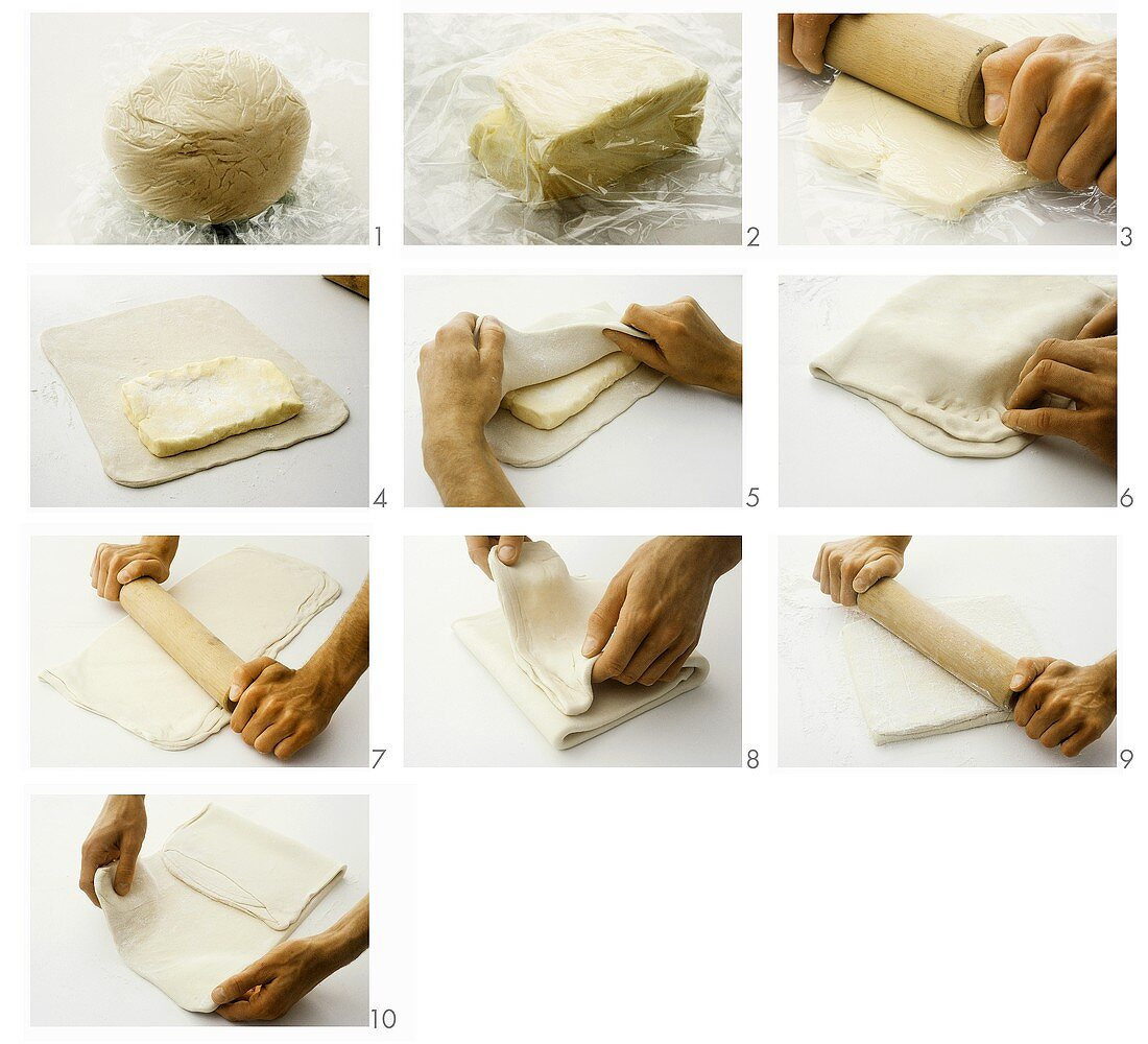 Making a puff pastry base - part 2
