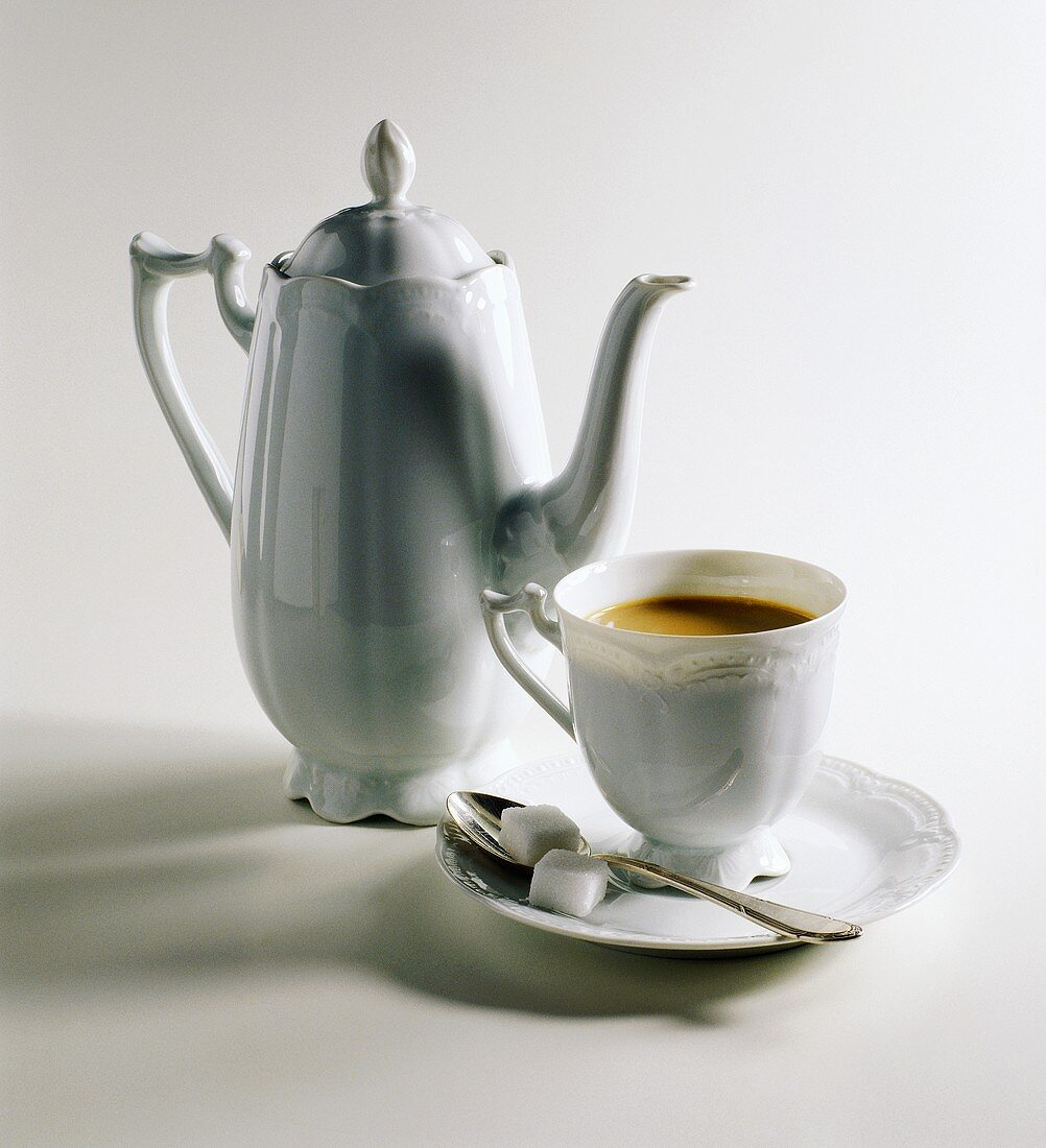A Cup of Coffee & Pot