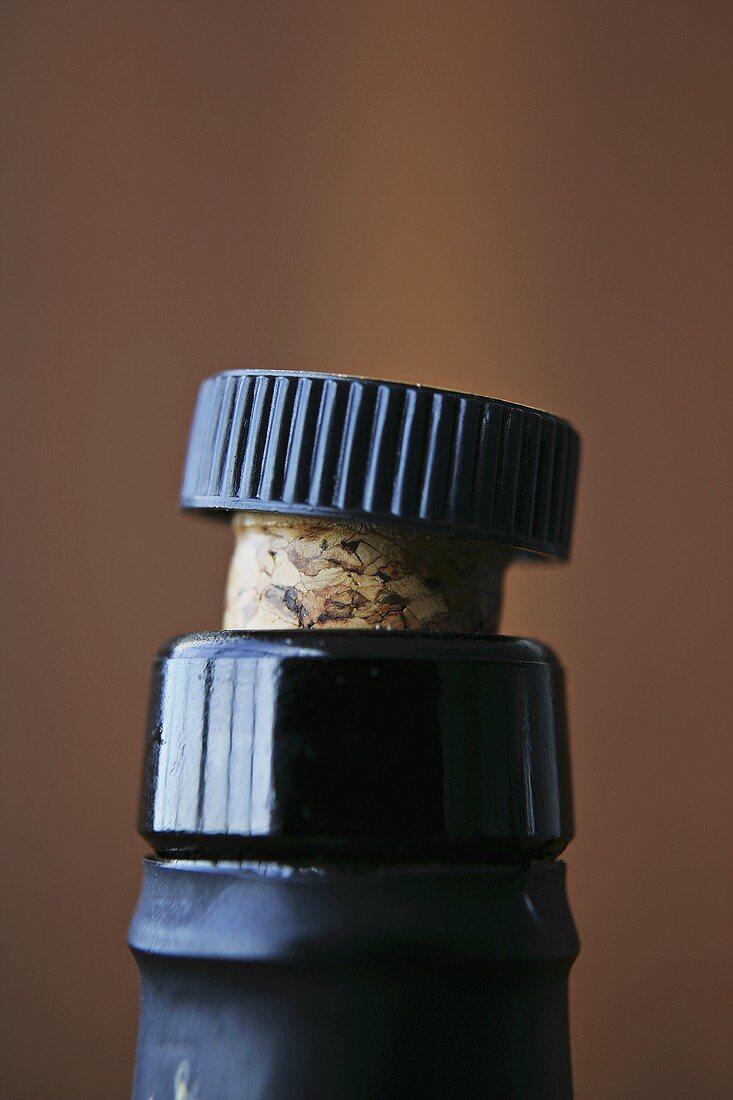 Sherry bottle (detail of cork)
