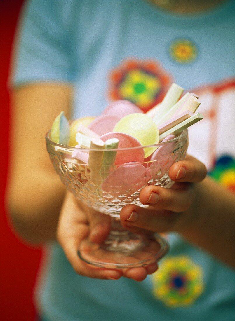 Fizzy sweets in jar