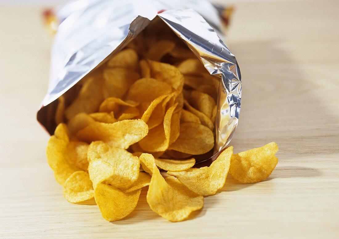 Bag of potato crisps