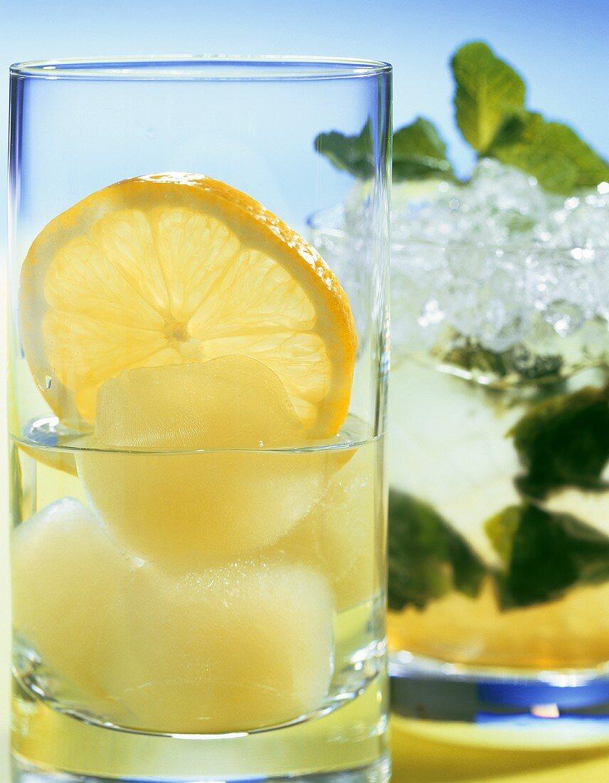 Two vodka cocktails: Vodka Fix and Vodka Julep