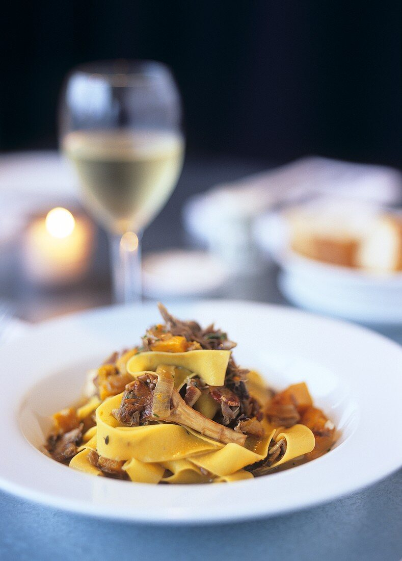 Pappardelle with duck ragout