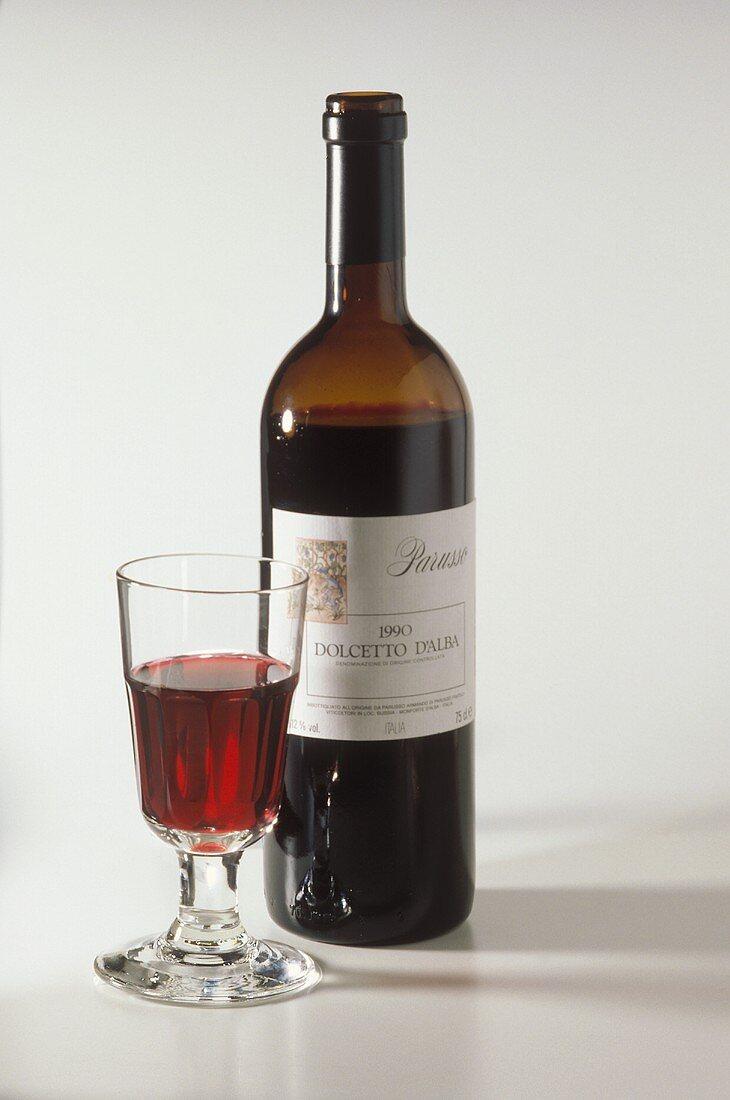 A Bottle of Red Italian Wine from Alba