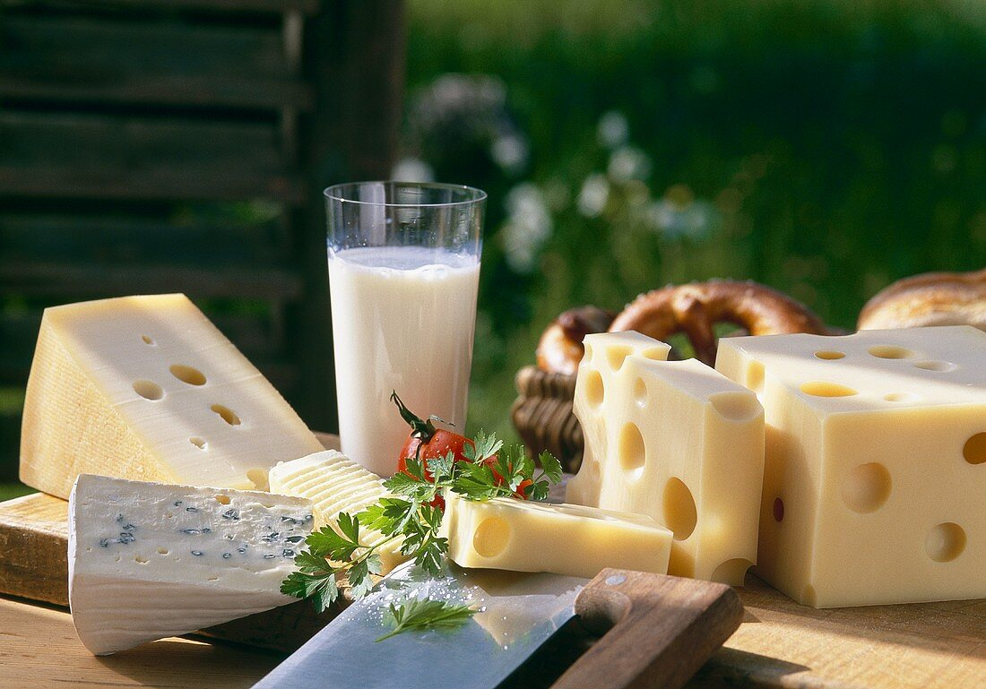 Cheeses for light meal