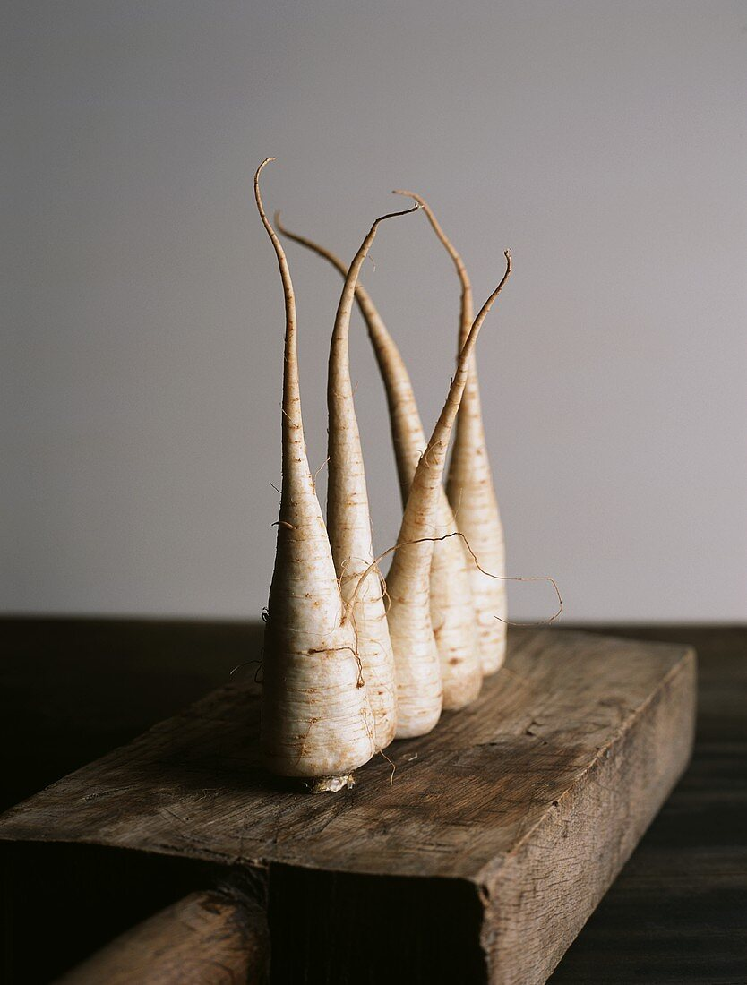 Five parsnips