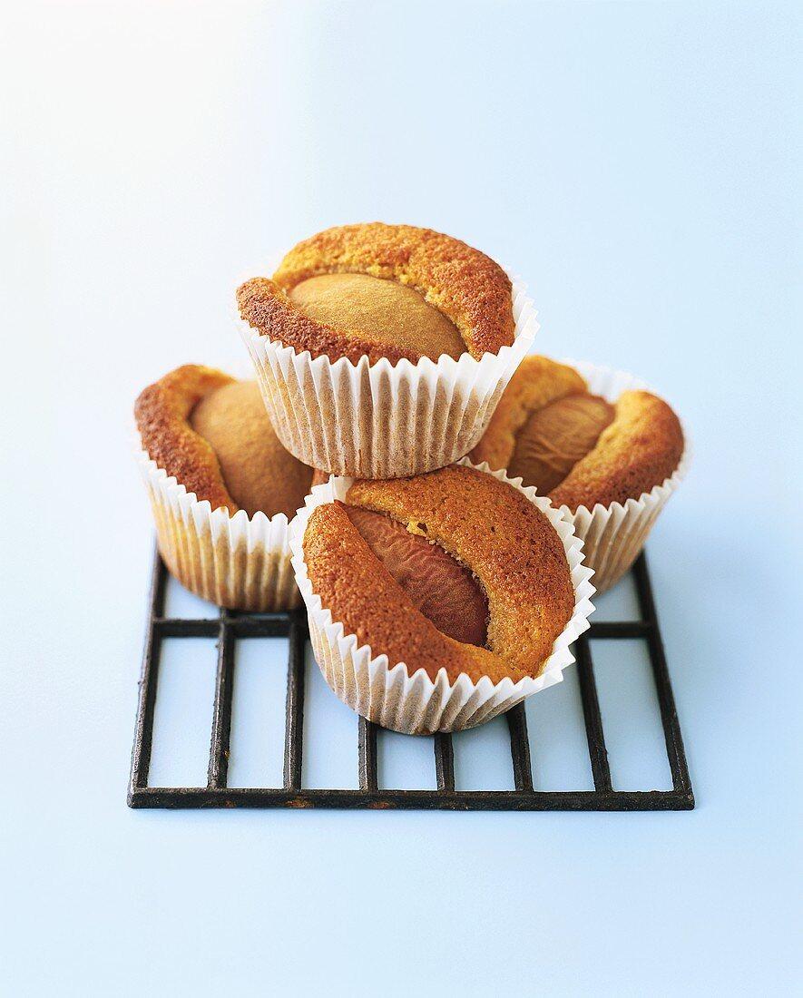 Moist peach muffins