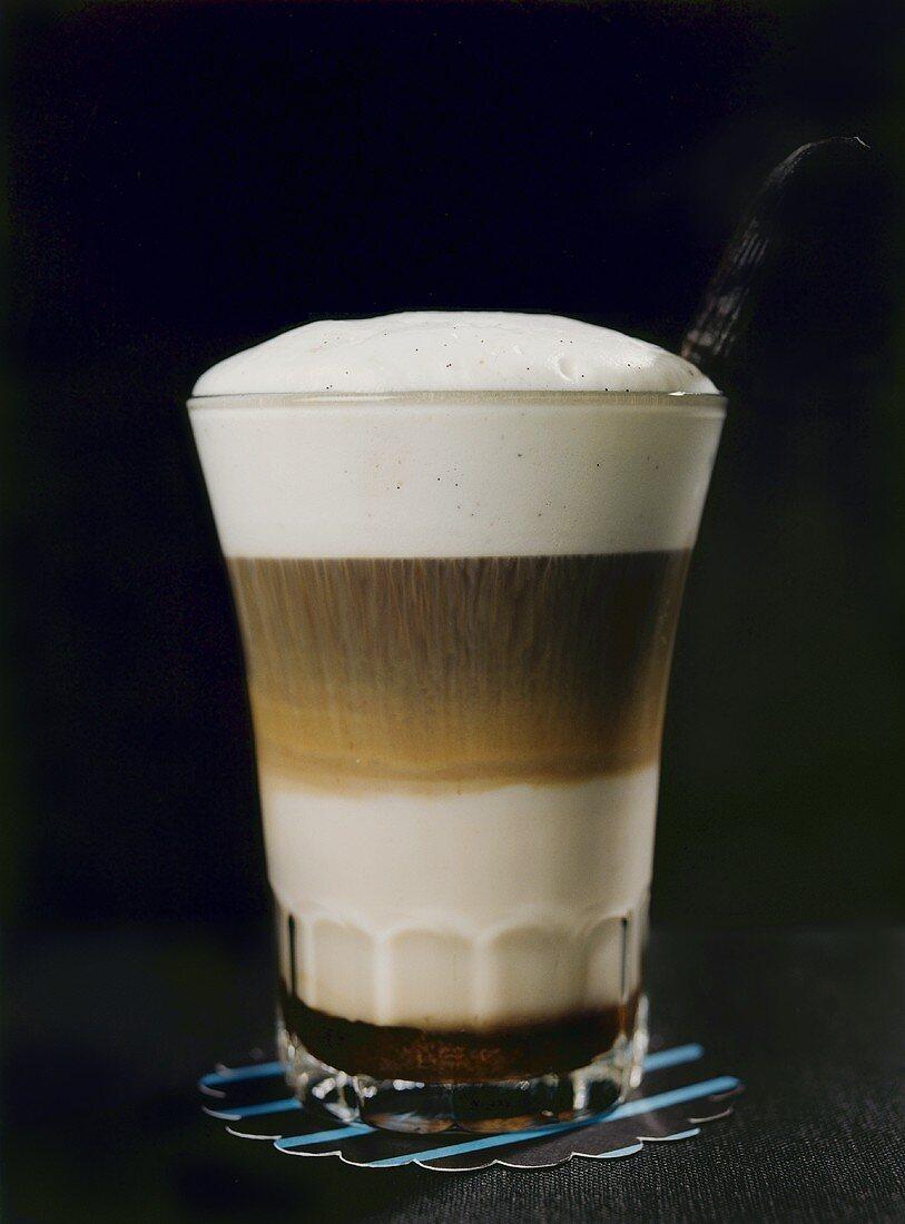 Latte livornese (espresso, rum, milk and brown sugar)