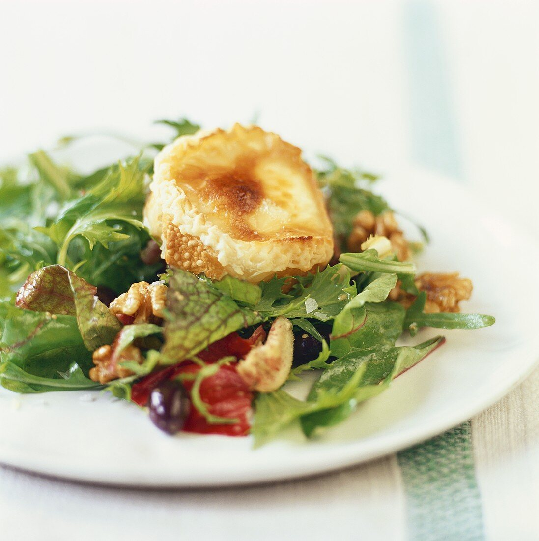 Warm goat's cheese on salad