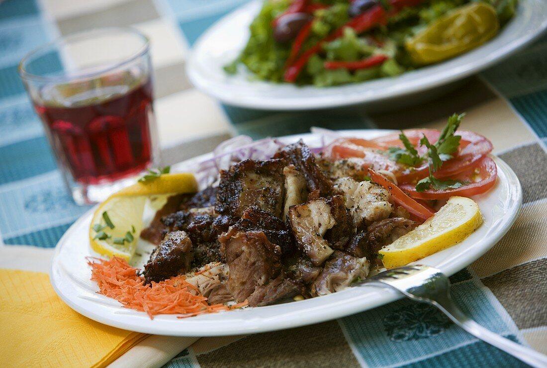 Gyros with salad