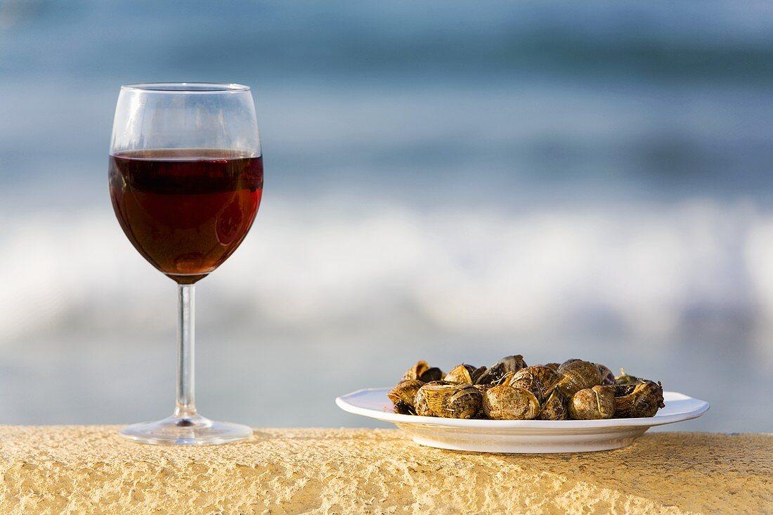 Chochli (Snails fried in oil, Crete)