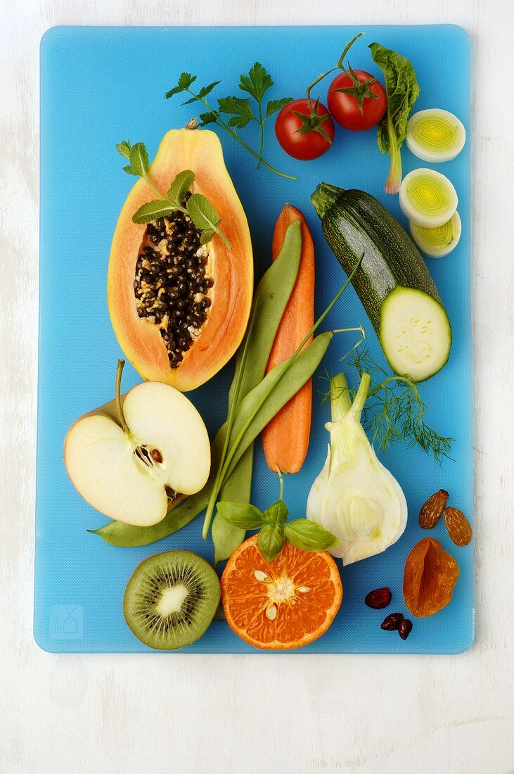 Fruit and vegetables, symbolising healthy eating