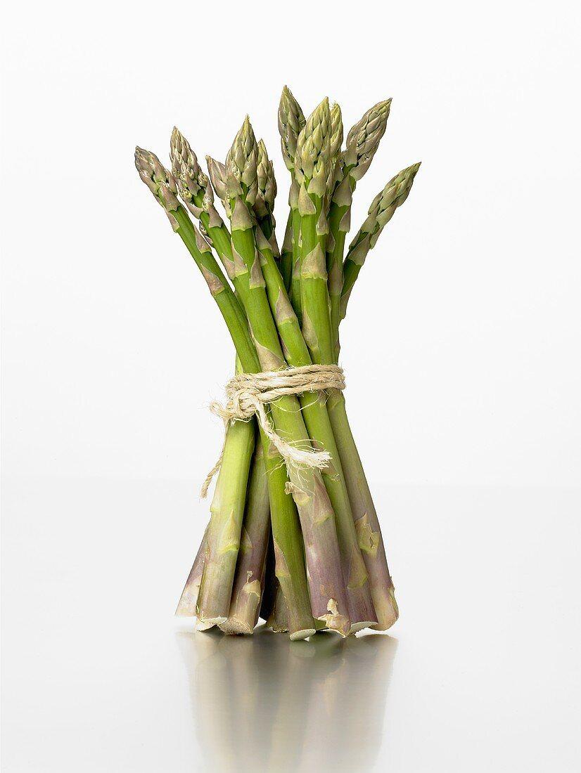 A bundle of fresh, green asparagus