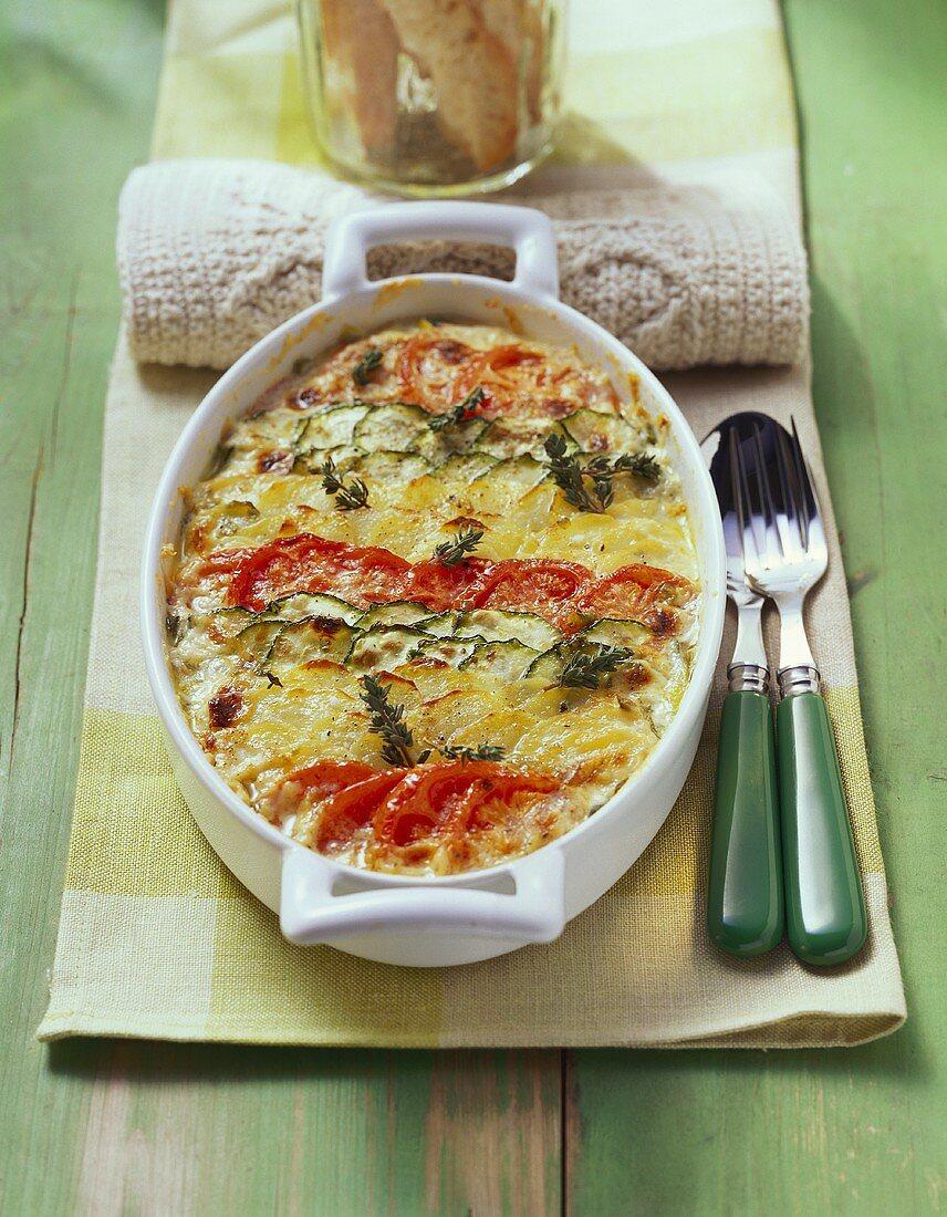 Mediterranean style vegetable casserole