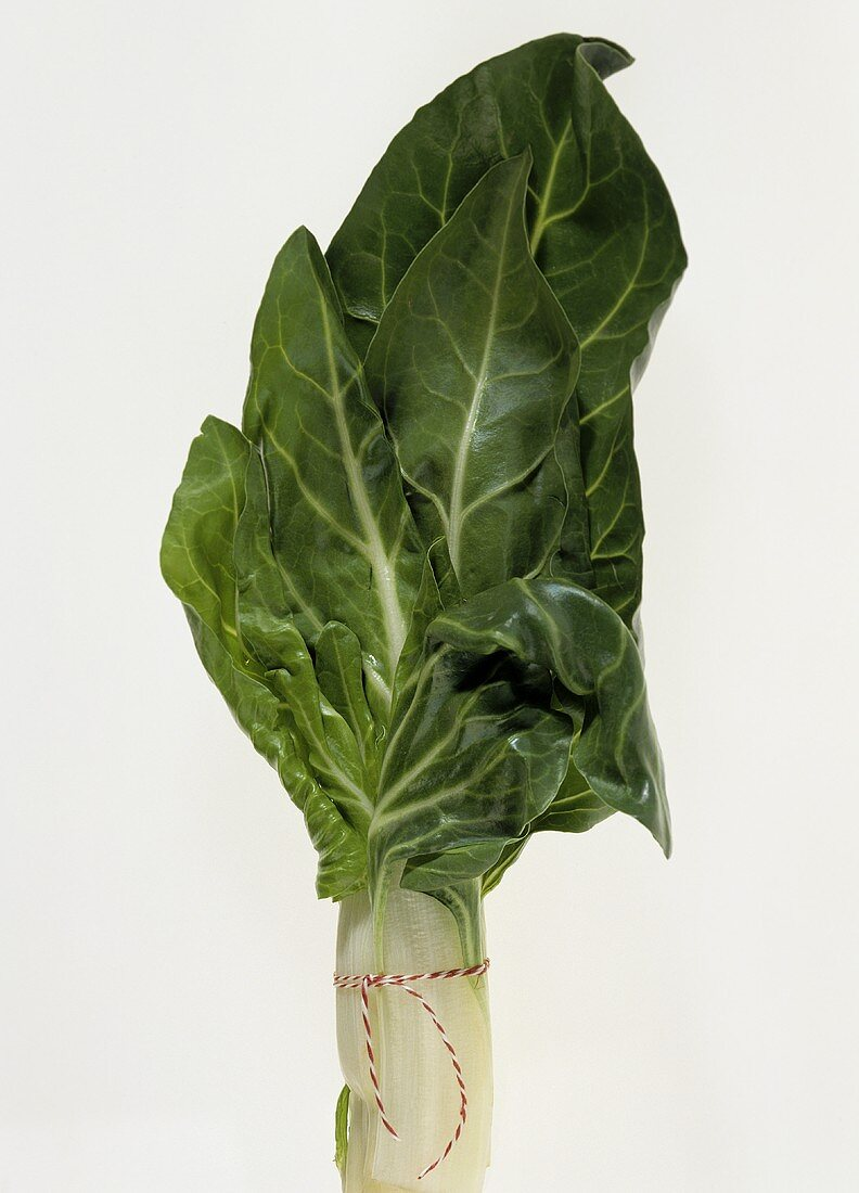 Chard leaves tied together