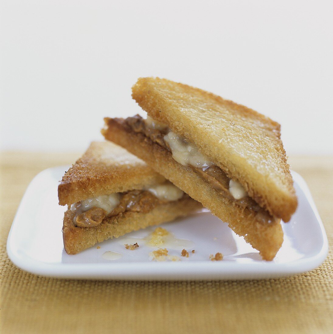 Toast with cheese and peanut butter