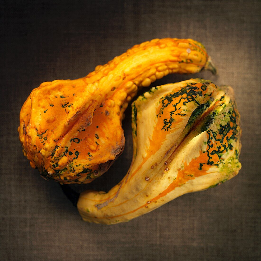 Two ornamental gourds
