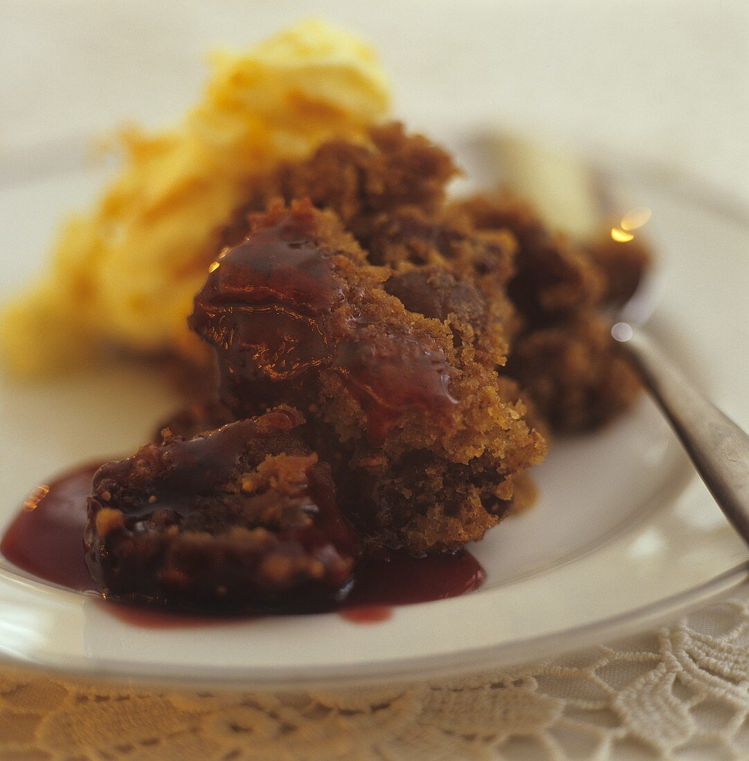 Figgy Pudding (Feigenpudding, kuchenartiges Dessert, England)