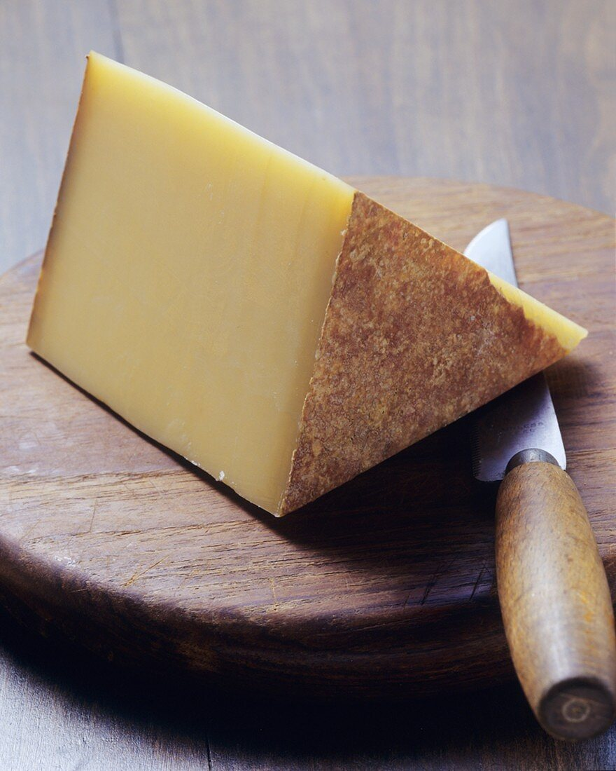 A piece of Bergkäse (Alpine cheese)