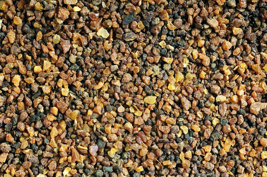 Myrrh (resin from trees of genus Commiphora, uses: incense, medicine)