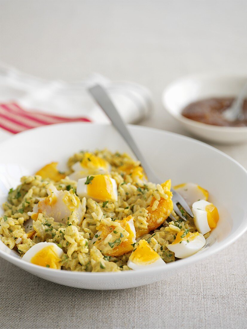 Kedgeree (Anglo-Indian rice dish with fish and egg)