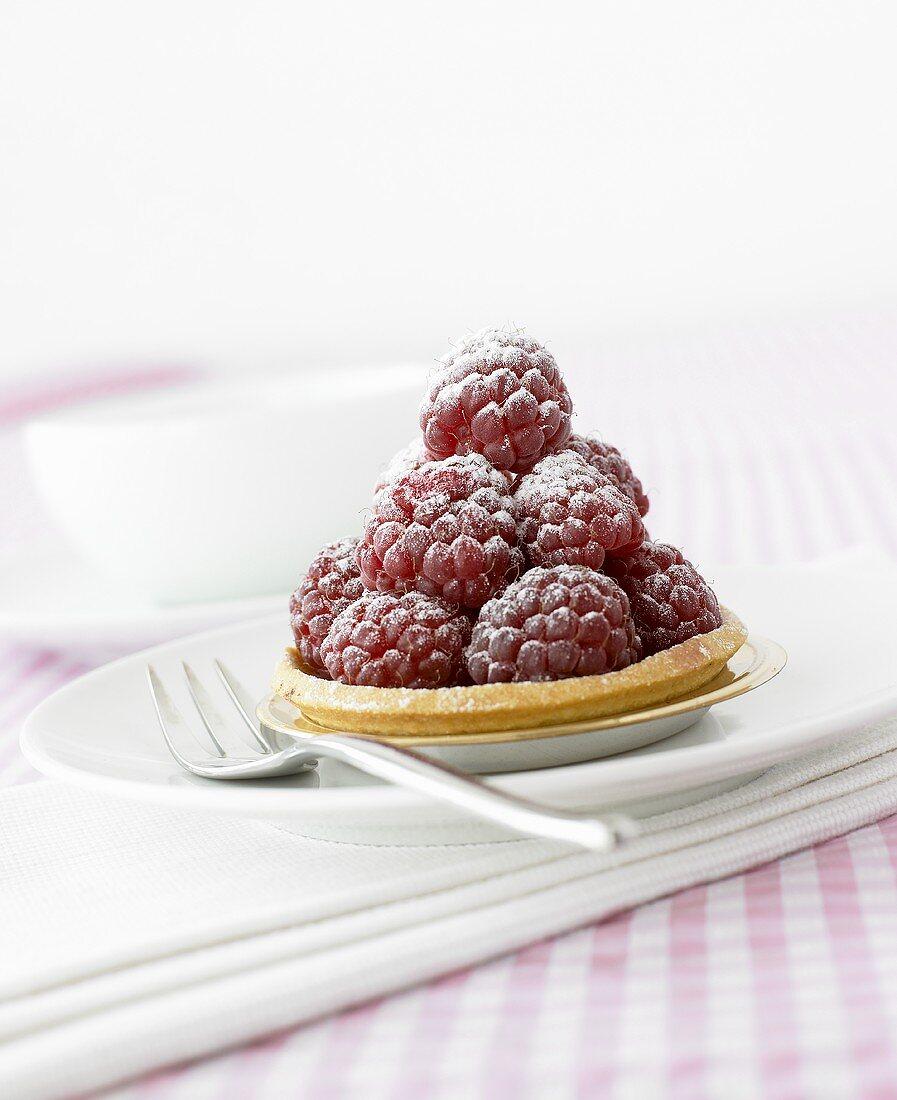 A raspberry tartlet