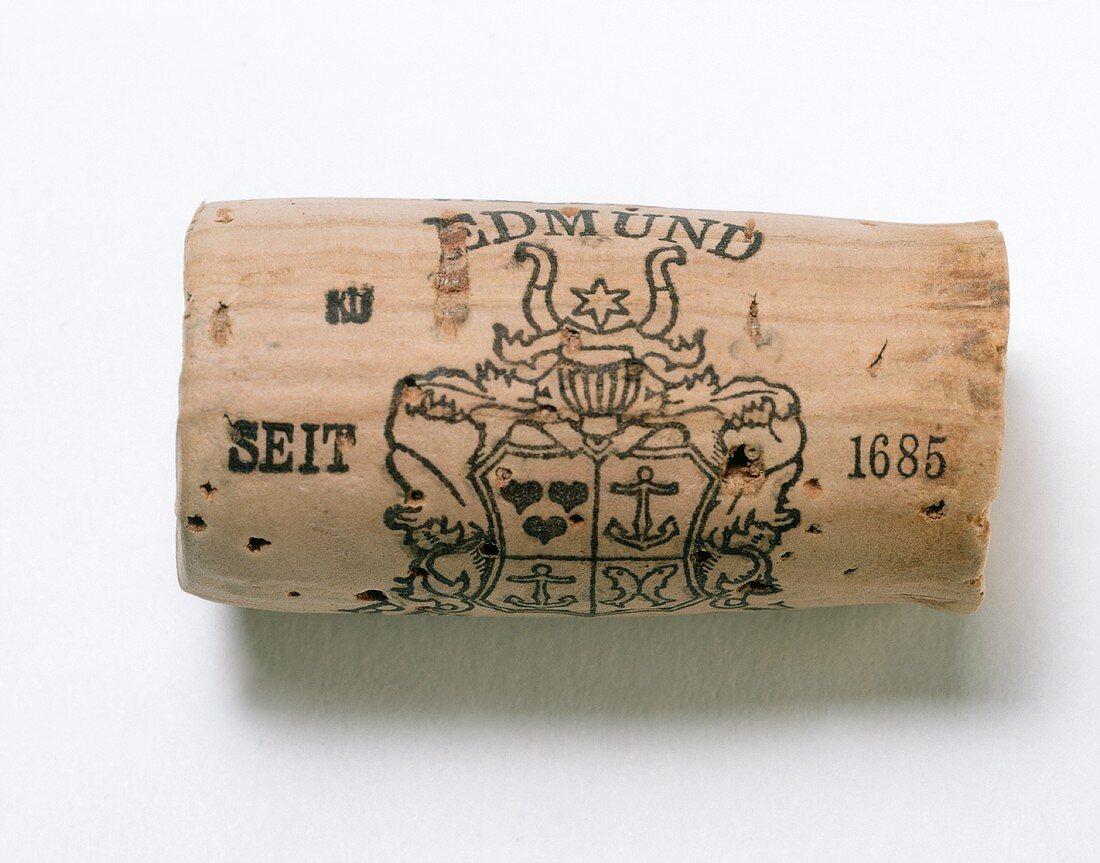 A Cork; White Burgundy Wine
