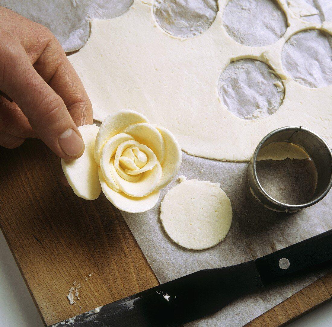 Making a butter rose