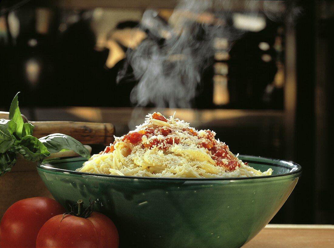 A Bowl of Steaming Spaghetti