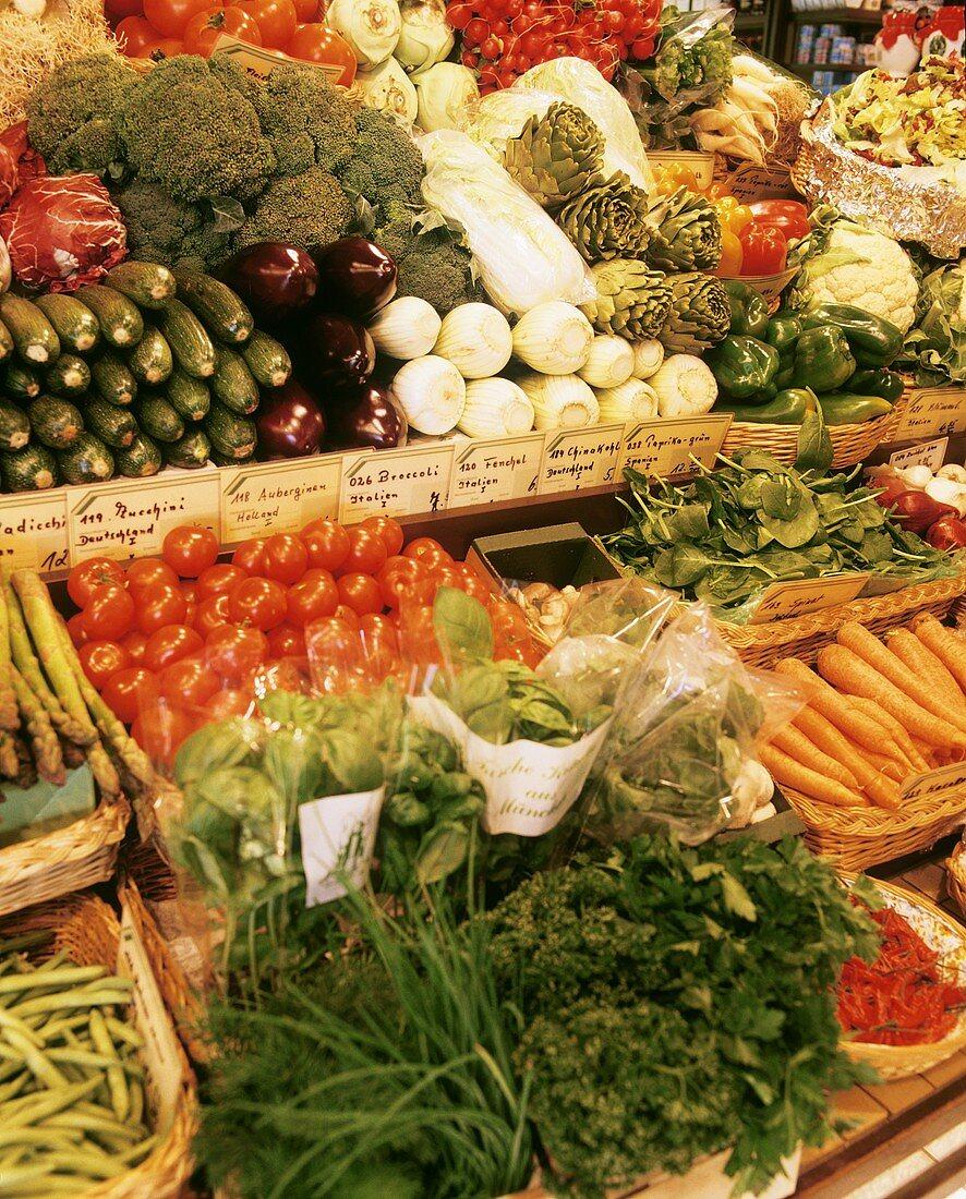 Vegetable Stall Inside